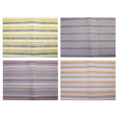 """890-302 Салфетка плетеная ПВХ, 30х45см, """"Полосы"""", 4 цвета"""