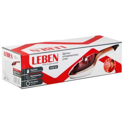 249-004 Щётка-отпариватель-утюг LEBEN 1000 Вт, тефлоновое покрытие, терморегулятор