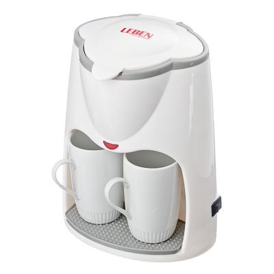 Кофеварка 500Вт + 2 фарфор.чашки, встроенн. фильтр, объем 0,3л