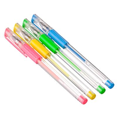 525-107 Набор цветных гелевых ручек, 4 шт., пластик