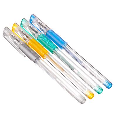 525-108 Набор цветных гелевых ручек с глитером, 4 шт., пластик