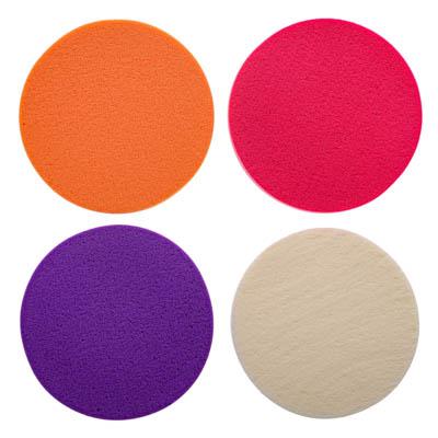 357-111 Набор спонжей для макияжа, 4 шт, латекс, d5,5см, 4 цвета