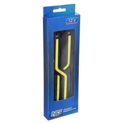 702-008 Дневные ходовые огни NEW GALAXY, LED 48шт, метал. корп., 180мм, 12V, белый, 2шт