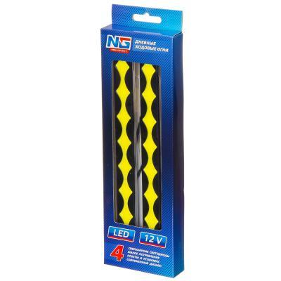 702-015 NEW GALAXY Дневные ходовые огни, LED 80шт, метал. корп., 205мм, 12V, белый, 2шт