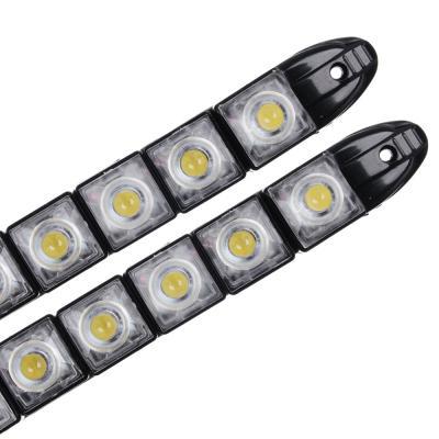 702-099 NEW GALAXY Дневные ходовые огни, LED 8шт, гибкий пласт. корп., 220мм, 12V, белый, 2шт.