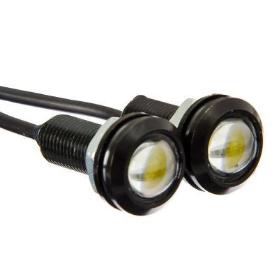 702-101 NEW GALAXY Дневные ходовые огни, LED, алюм. корп.,диам.18мм , 12V, белый, 2шт.