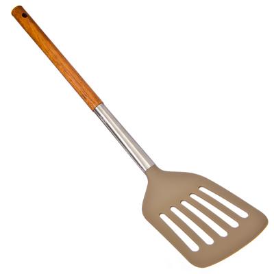 881-159 VETTA Веросса Лопатка с прорезями, нейлон, ручка нерж.сталь, дерево