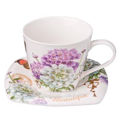 821-442 Романтика Набор чайный 12 пр., костяной фарфор, 220мл