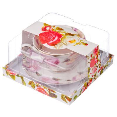 821-480 Изабелла Набор чайный 2 пр., 200мл, костяной фарфор, подар. уп.