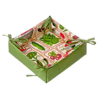 432-008 VETTA Овощной микс Корзинка для хлеба, полиэстер, 20x20см