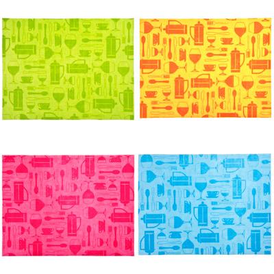 485-073 Коврик для сушки посуды, губчатая вискоза, 4 цвета, 30х40см