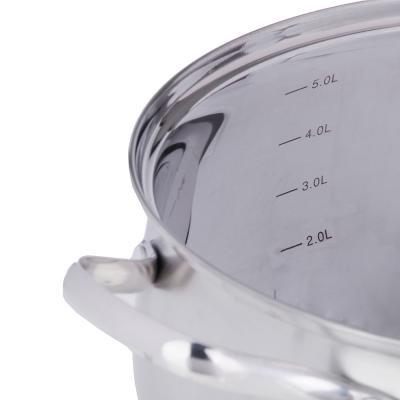 822-086 Кастрюля 6,8 л VETTA Женева, со стеклянной крышкой, индукция