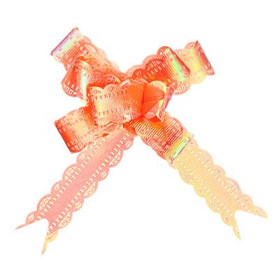 507-699 Набор бантов в форме бабочки 3шт, ПЭТ, 1,2х25см, перламутр, 6 цветов