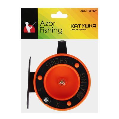 126-009 AZOR FISHING Катушка инерционная, металл, пластик
