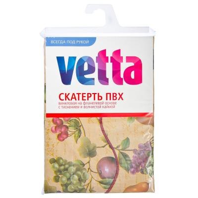 479-154 VETTA Скатерть виниловая тиснёная с каймой, 137x182см, арт.CHB138A-28