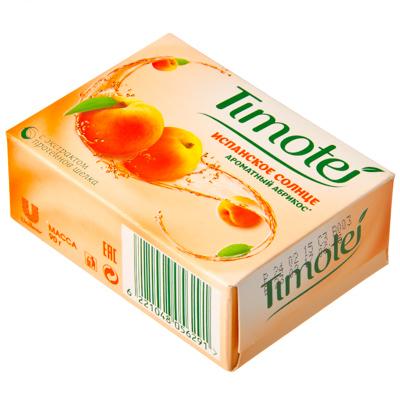 952-056 Мыло твердое Тимотей Испанское солнце ароматный абрикос к/у 90гр, арт.21082886