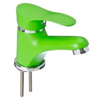 566-265 Смеситель Klabb 21 для раковины, керам. картридж 35мм, зеленый, без подв
