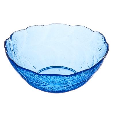 877-535 Марлин Салатник фигурный, 200мл, стекло, синий