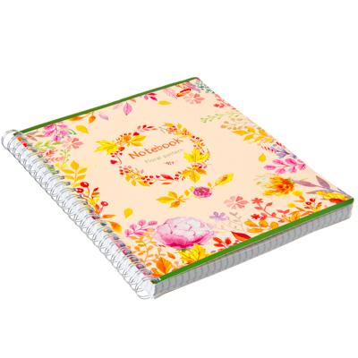 524-129 Тетрадь 96л Wсп А5 кл 7889/3-EAC полн УФ лак Floral Pattern (цветы и листья)