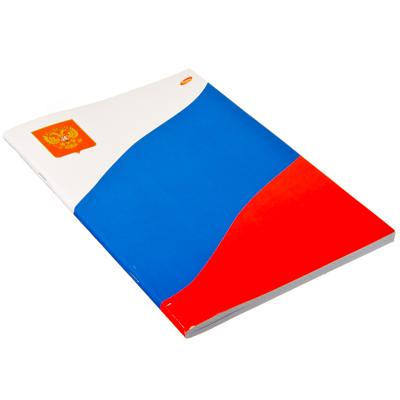 524-130 Тетрадь 96л скр А4 кл 5484/3-ЕАС полн УФ Российский флаг