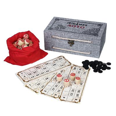 537-003 Лото в подарочной коробке 24х12,5х9см, МДФ, дерево, текстиль