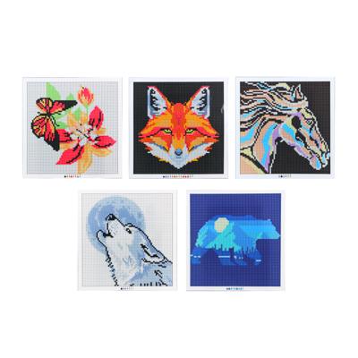"""366-190 Картина из страз, 25х25см, полотно, стекло, стик, """"Улыбка природы"""", 5 дизайнов"""