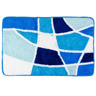 """462-547 VETTA Коврик для ванной, акрил, 50x80см, """"Витраж"""", голубой, Дизайн GC"""