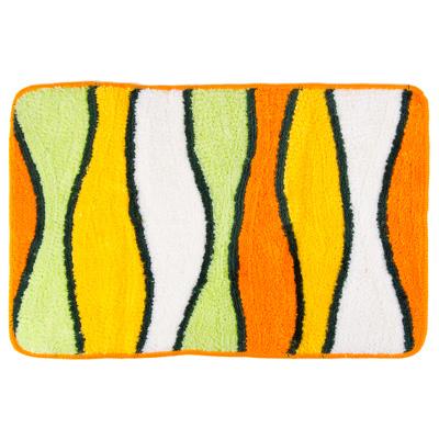 """462-548 VETTA Коврик для ванной, акрил, 50x80см, """"Полоска"""", зелёно-оранжевый, Дизайн GC"""