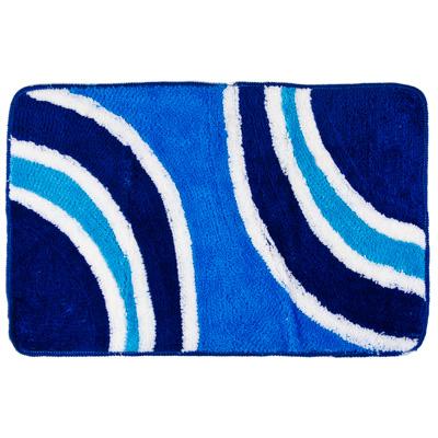 """462-552 VETTA Коврик для ванной, акрил, 50х80см, """"Абстракция"""" синий, Дизайн GC"""