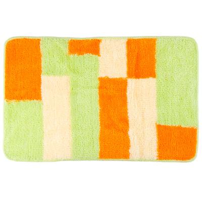 """462-559 VETTA Коврик для ванной, акрил, 50х80см, """"Квадраты"""", зелёный, Дизайн GC"""