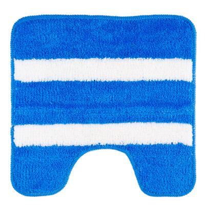 """462-560 VETTA Коврик для туалета, акрил, 50x50см, """"Морской-полосатый"""" синий, Дизайн GC"""