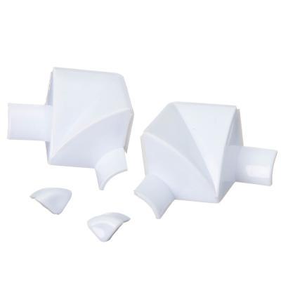 469-077 Лента бордюрная самоклеящаяся фигурная белая 38ммх3,35м, полиэтилен +2 уголка и заглушки