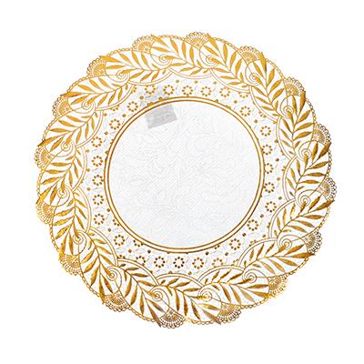 418-004 Салфетка ажурная на стол для кухни круглая, 30см