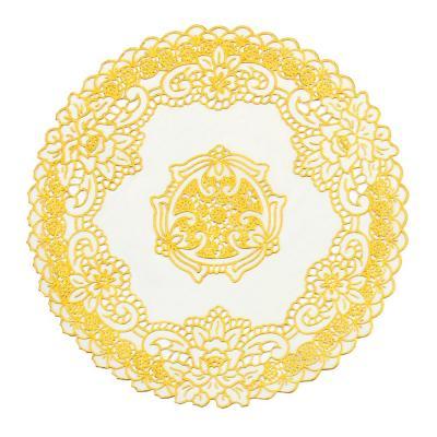418-005 Салфетка ажурная на стол для кухни круглая, 30см