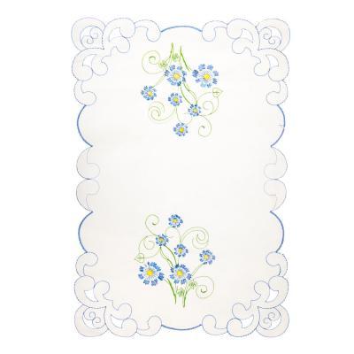 418-006 Салфетка декоративная с вышивкой на стол, 30см