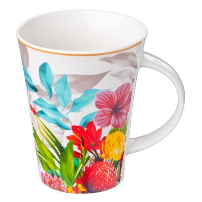 806-049 Кружка 350мл, фрф, Цветы-11, 4 диз. в подар. уп.