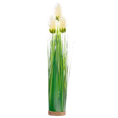 501-416 Цветок декоративный Зеленая коллекция, пластик, 46 см, 6 цветов, арт 1507-4