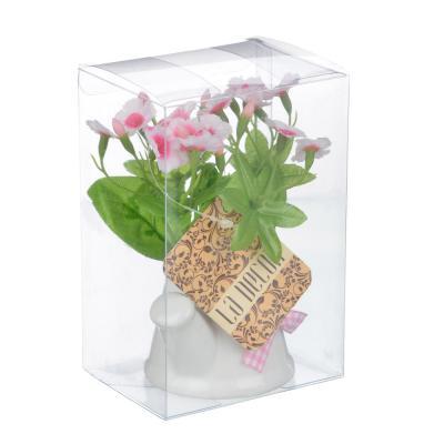 501-439 Цветок декорат. в керам. горшке Цветочная коллекция, пластик, полиэстер, 12х8х6 см,3 цв, 1507-15