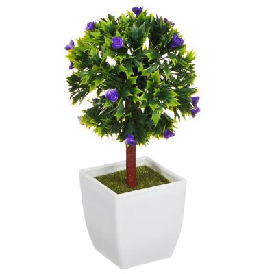 501-443 LADECOR Цветок декоративный в горшке Цветочная коллекция, пластик, 18,5х10х10 см, 4 цвета, 1507-17