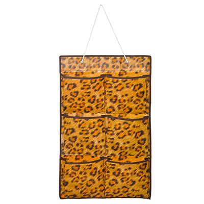 457-336 VETTA Подвесная секция для хранения мелочей 6 карманов, леопард, спанбонд влагостойкий, 37x60см
