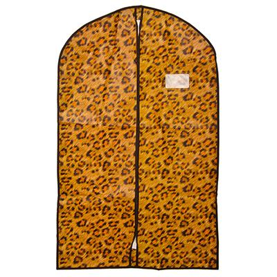 457-337 Чехол для одежды с рисунком леопард, спанбонд, 60x100см
