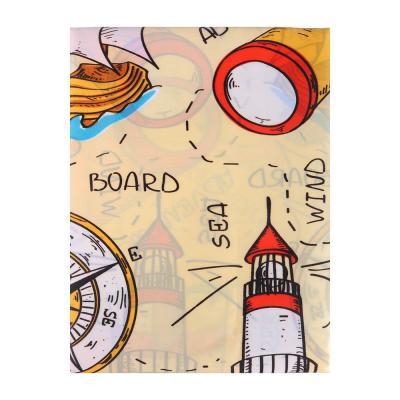 """461-431 VETTA Шторка для ванной, ткань полиэстер с утяжелит, 180x180см, """"Корабли"""", Дизайн GC"""