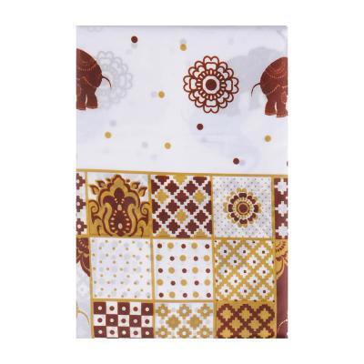 """461-439 VETTA Шторка для ванной, ткань полиэстер с утяжелит, 180x180см, """"Бежевые слоники"""", Дизайн GC"""