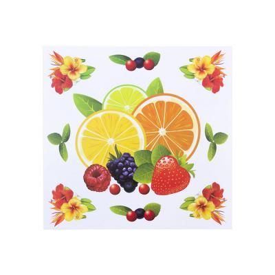 503-500 Наклейка интерьерная, ПВХ, 28х29см, с фруктами, 8 дизайнов, арт.19-07-7