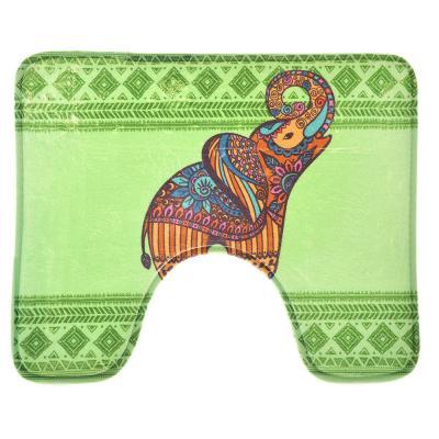 """462-586 VETTA Набор ковриков 2шт для ванной и туалета микрофибра,1,2см,50х80см+50x40см,""""Слоны"""",Дизайн GC"""