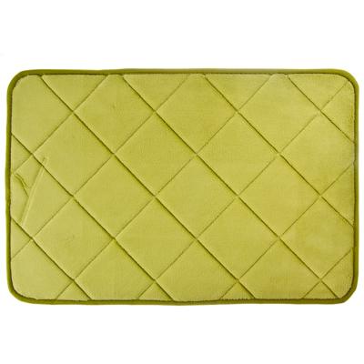 """462-597 VETTA Коврик для ванной флис, принт, ортопедическая пена 1,2см, 40x60см, """"Ромбики зеленые"""""""