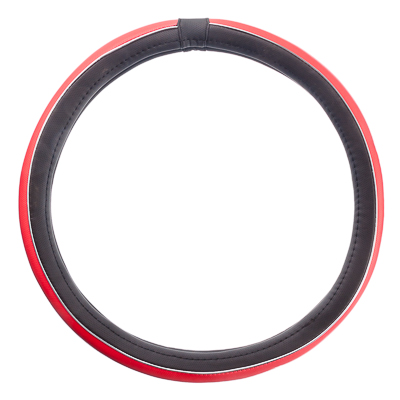 """708-050 NEW GALAXY Оплетка руля, экокожа, с """"метал"""". молдингом, черный/красный, разм. (М)"""