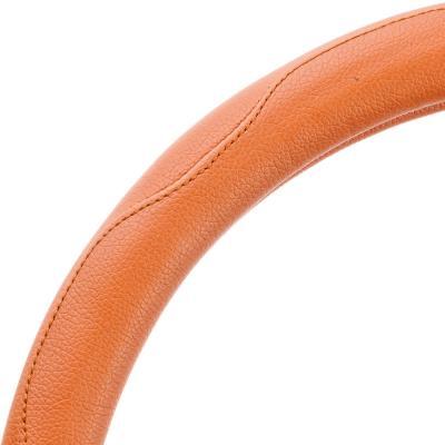 708-061 NEW GALAXY Оплетка руля, кожа PU, коричневый, разм. (М)