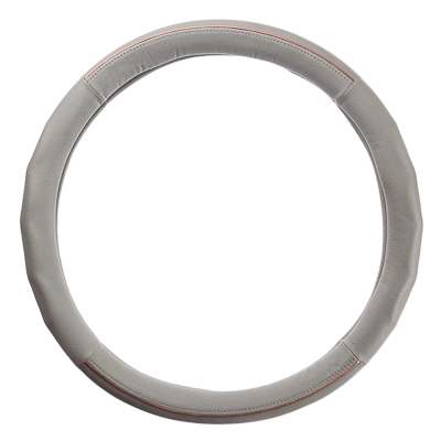 708-064 NEW GALAXY Оплетка руля, кожа PU + вставка, рельеф, серый, разм. (М)