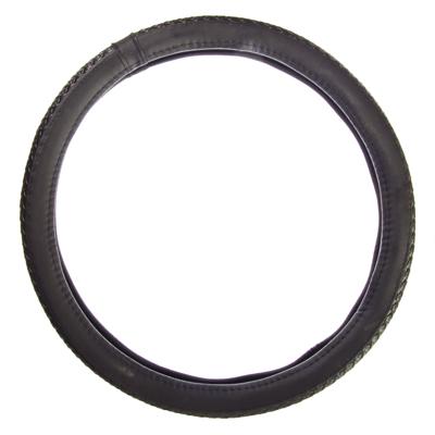 708-068 NEW GALAXY Оплетка руля экокожа, плетёные вставки, черный, разм. (М)